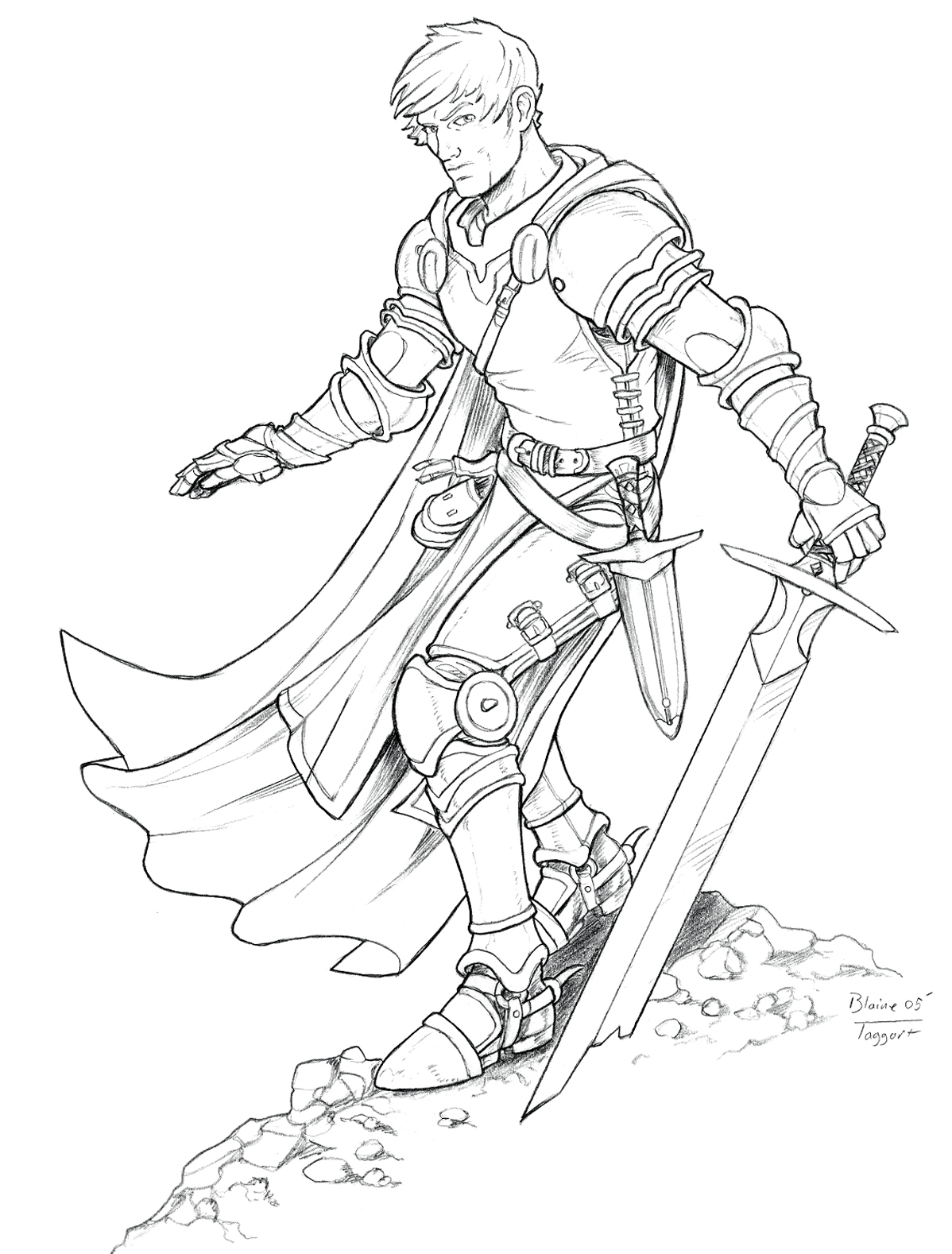 fantasy coloring pages eagles knights - photo#2