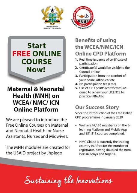 NMC Ghana CPD Online Registration Portal Guide [Nurses & Midwives]
