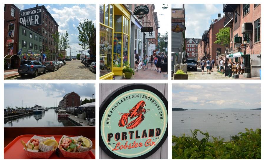 Visite et lobster roll à Portland