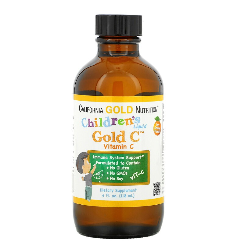 California-Gold-Nutrition-Children-s-Liquid-Gold-Vitamin-C-USP-Grade-Tart-Orange-Flavor-4-fl-oz-118-ml/71370