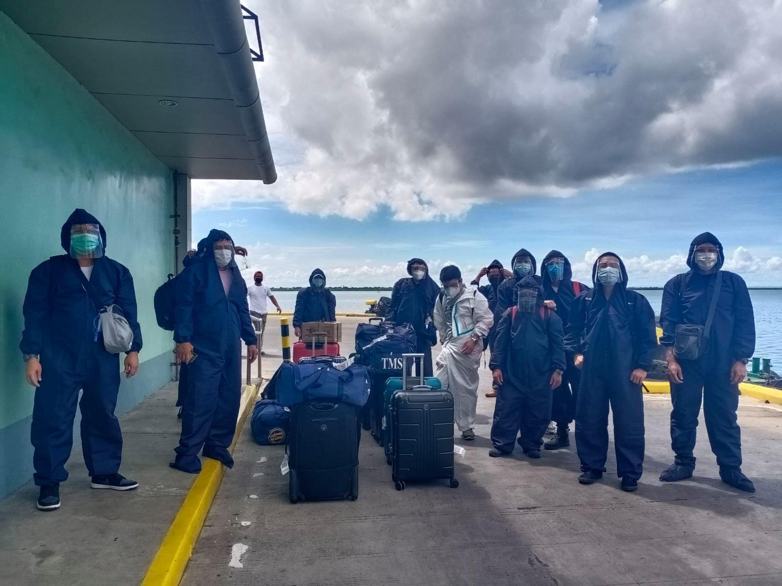 Pinoy seaman seafarers crew change during pandemic at Cebu port
