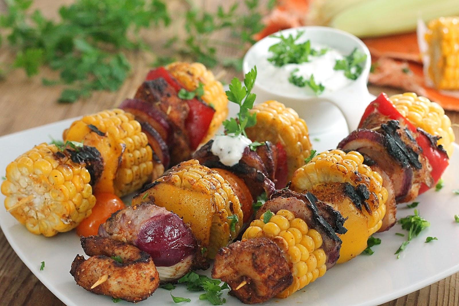 Wesoła Kuchnia Szaszłyki Z Kukurydzy I Kurczaka