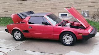 Bertone X 1/9 trunk and hood open