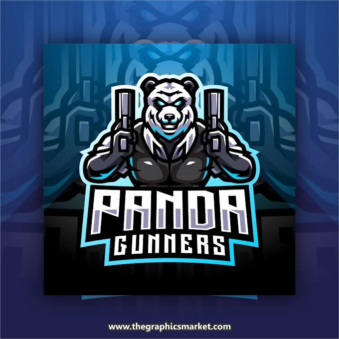 Panda Gaming Logo Vector | Free Download