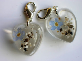 Ashes and forget me not flower bracelet charms