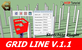 Download Plugin SketchUp - Grid Line V.1.1 Gratis