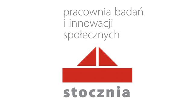 """Logo Pracowni Badań i Innowacji Społecznych """"Stocznia"""""""