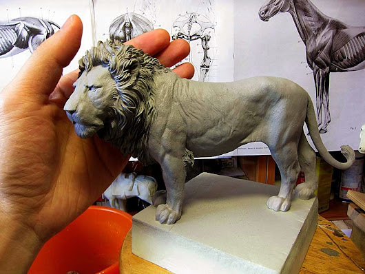Lion in 1/10 resin is ready.