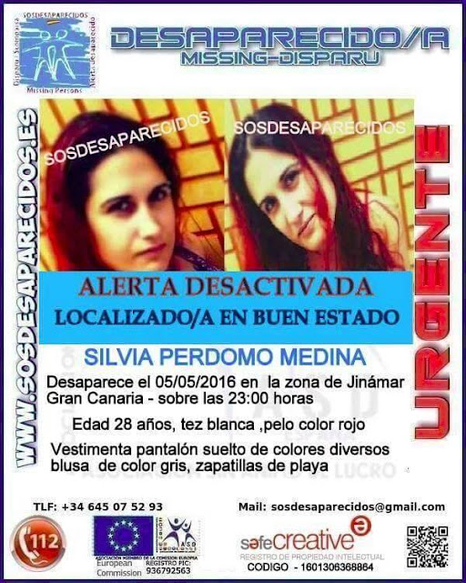 Joven desaparecida Jinamar localizada buen estado Silvia Perdomo Medina Joven