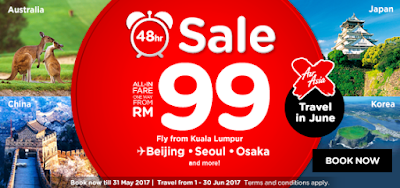 AirAsia 48 Hours Flash Sale Flight Ticket Discount Offer Promo