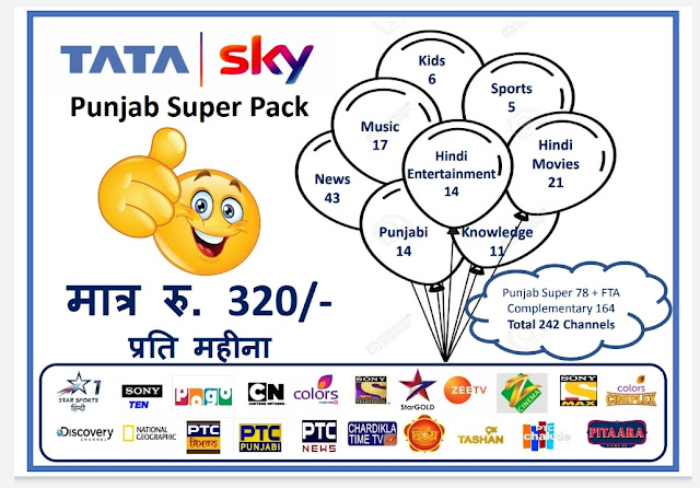 Tata Sky Channel List: Punjab Super Pack