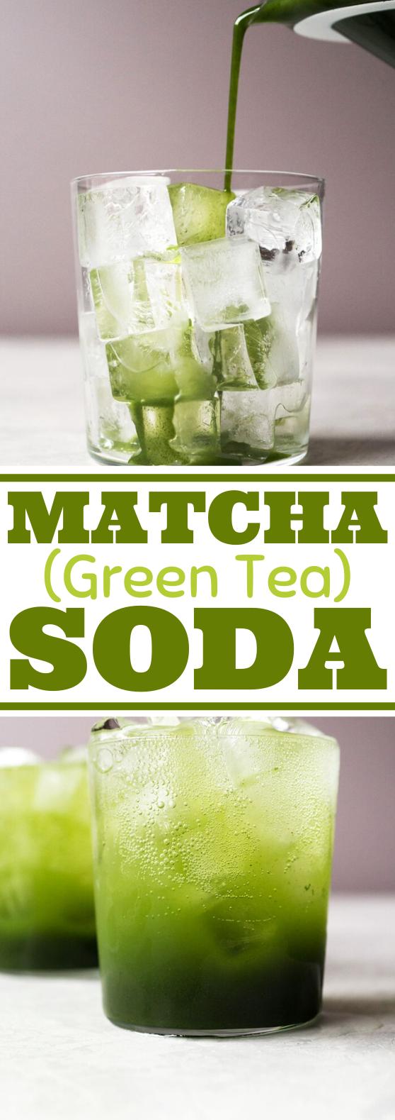 Matcha (Green Tea) Soda #drinks #recipe #nonalcohol #soda #greentea