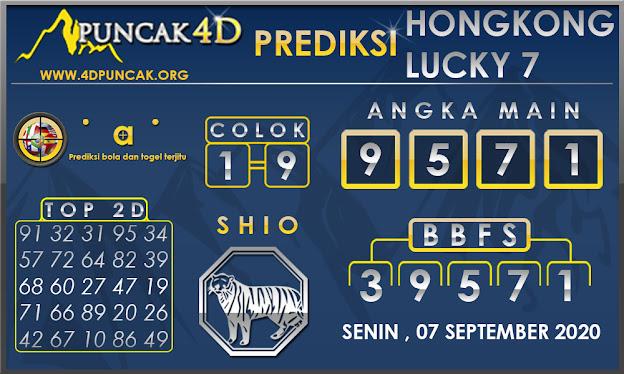 PREDIKSI TOGEL HONGKONG LUCKY7 PUNCAK4D 07 SEPTEMBER 2020