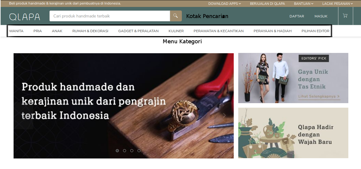 Qlapa Produk Handmade made in Indonesia