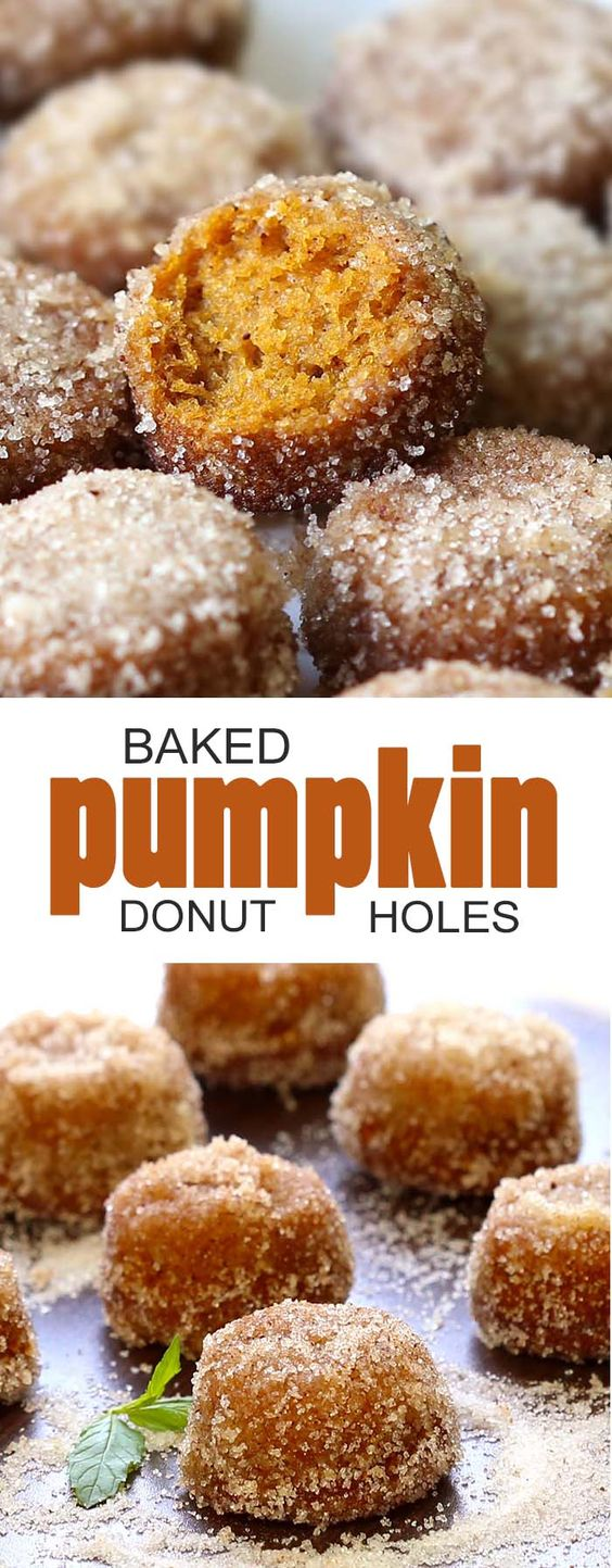 Baked Pumpkin Donut Holes Recipe | CUCINA DE YUNG