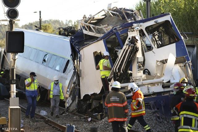 Egy halott, ötven sérült egy vonatbalesetben Portugáliában