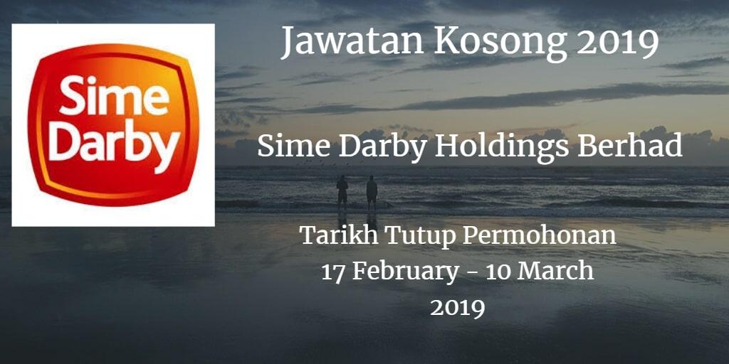 Jawatan Kosong Sime Darby Holdings Berhad 17 February - 10 March 2019