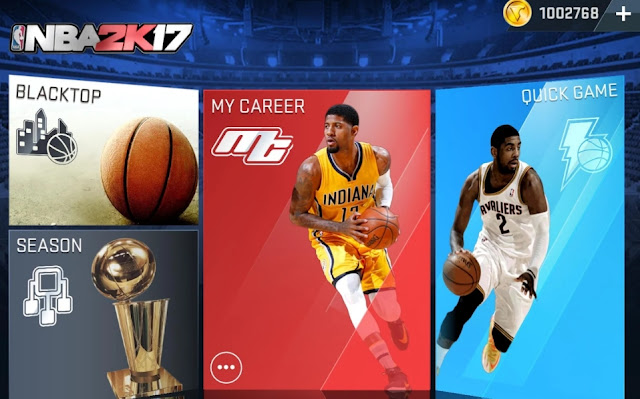NBA 2K17 Mod Apk Data v0.0.21 (Unlimited Money+Ads Free)