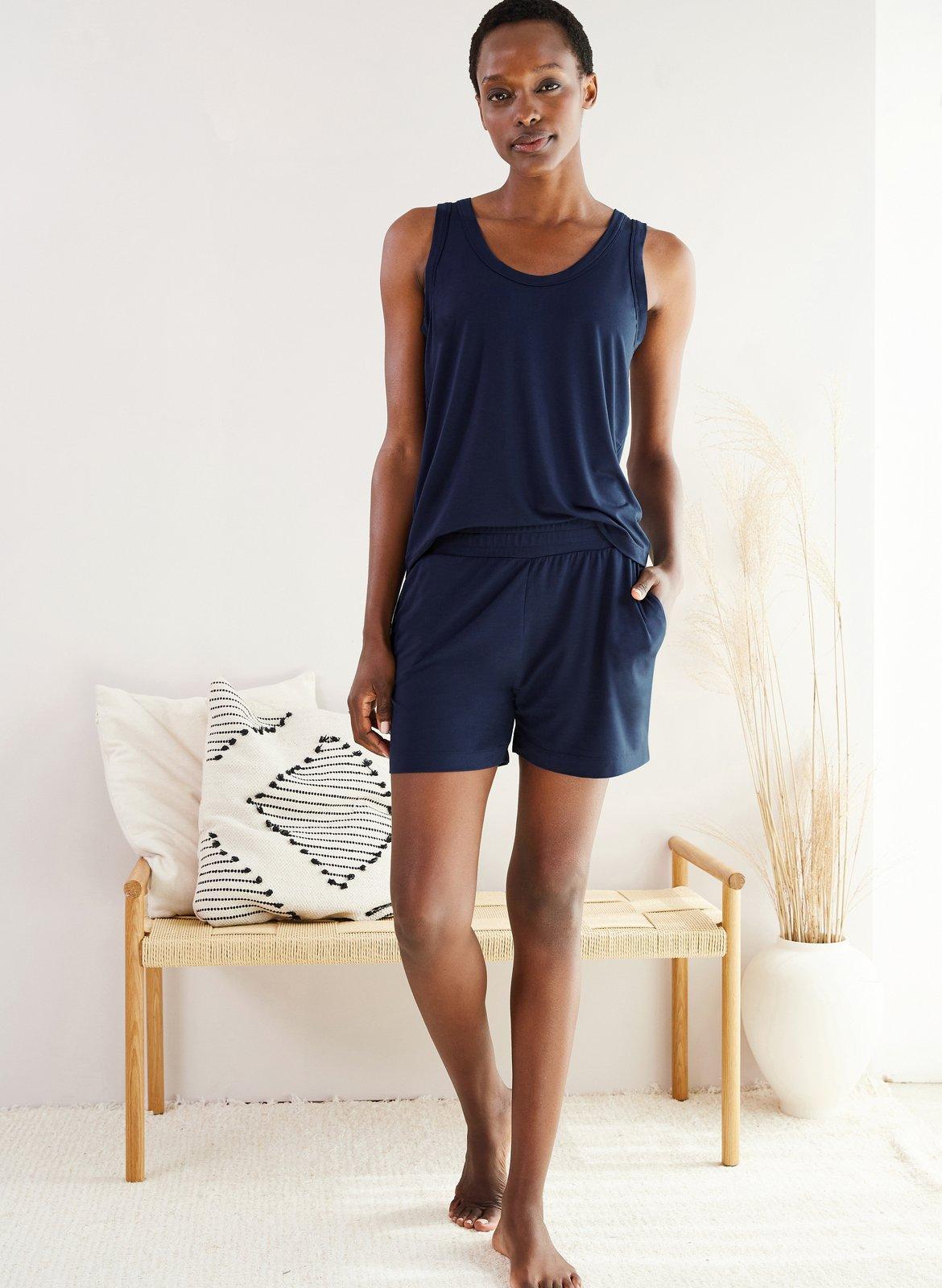 my midlife fashion, Baukjen peace lyocell shorts