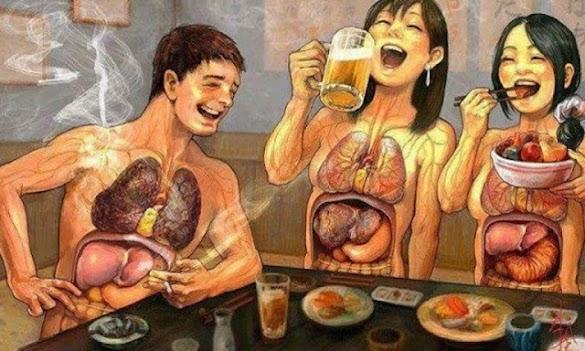 Waspada INILAH yang Terjadi Jika Setelah Makan Langsung Merokok !!! Untuk Istri Tolong Kasih Tau Suaminya yang Merokok Ya