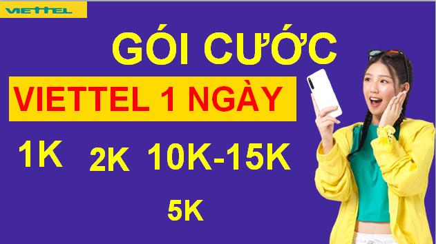 Cách Đăng ký Gói Viettel 1 ngày 1k 2k 3k 5k 10k