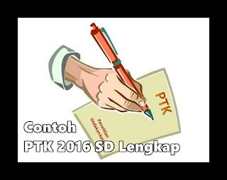Contoh PTK 2016 SD Lengkap