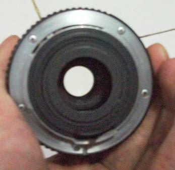 Lensa smc pentax 28-50mm f/3.5-4.5 belakang