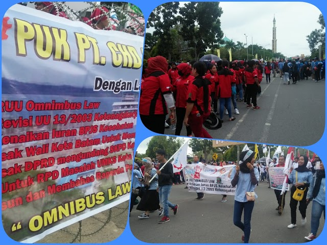 Ribuan Buruh  Batam Gelar Aksi Demo di Kantor DPRD Batam