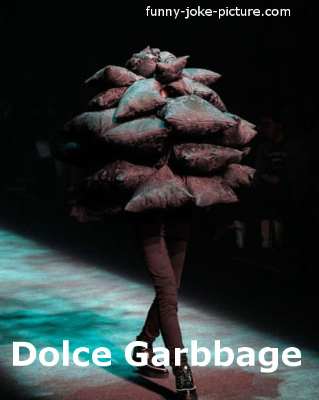 Funny Dolce Gabbana Fashion Photo