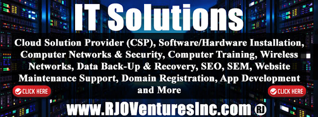 Cloud Solution Provider, Managed Service Provider, Hardware, Software, Information Technology. www.RJOTechnology.com (Powered by: RJO Ventures, Inc.)