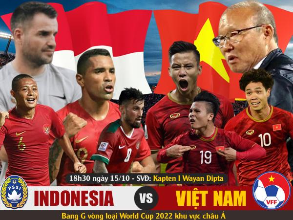 Indonesia vs Việt Nam 18h30 ngày 15/10 www.nhandinhbongdaso.net