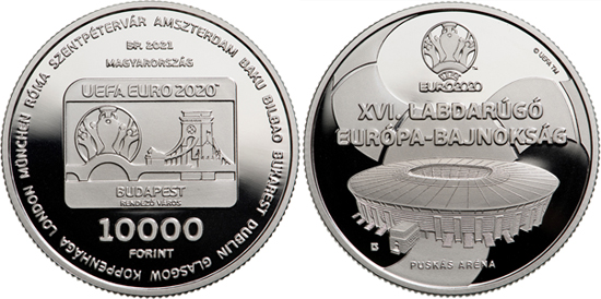 Hungary 10,000 forint 2021 - 16th UEFA Football European Championship