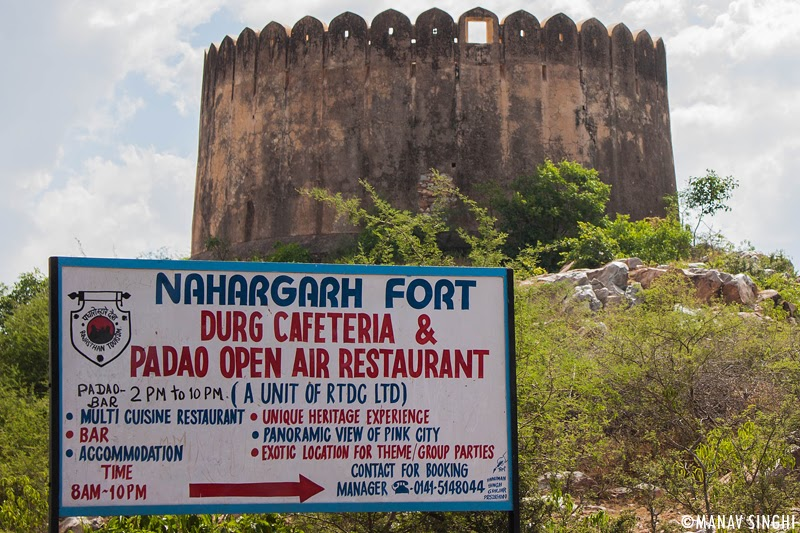 So When you you will reach NaharGarh this is the First Board you will see, at left of this Board you will find The famous Rang De Basanti Bawadi (Step Well) at right you will find an Open air Theater which can be rented for Late Night Parties Nowadays.
