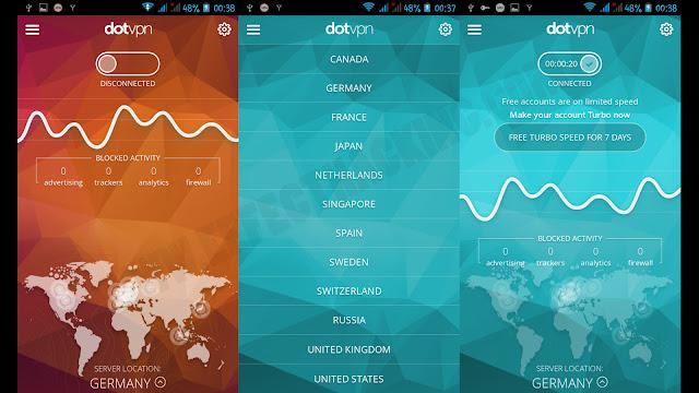 Dot VPN Screenshots