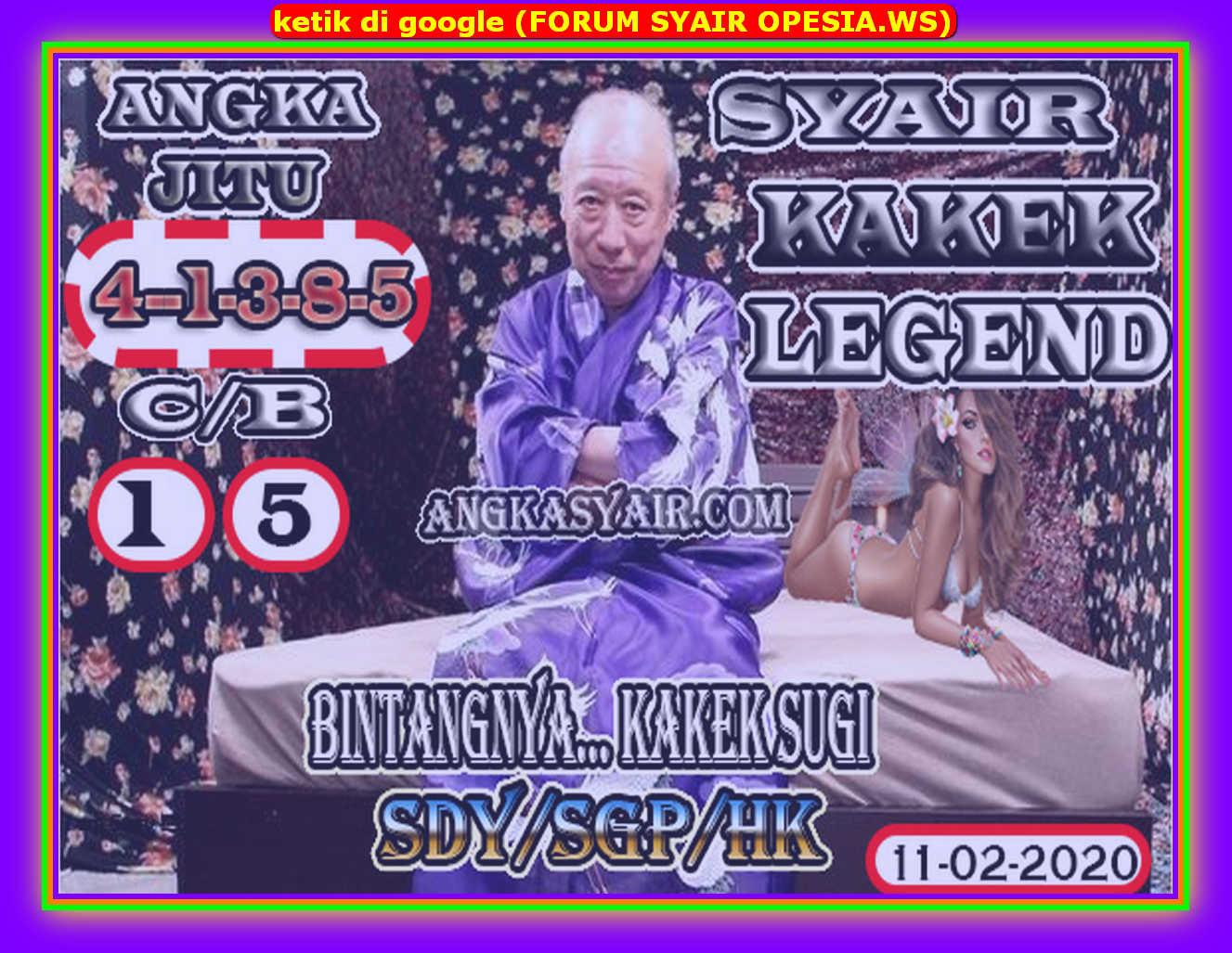 Kode syair Hongkong Selasa 11 Februari 2020 168