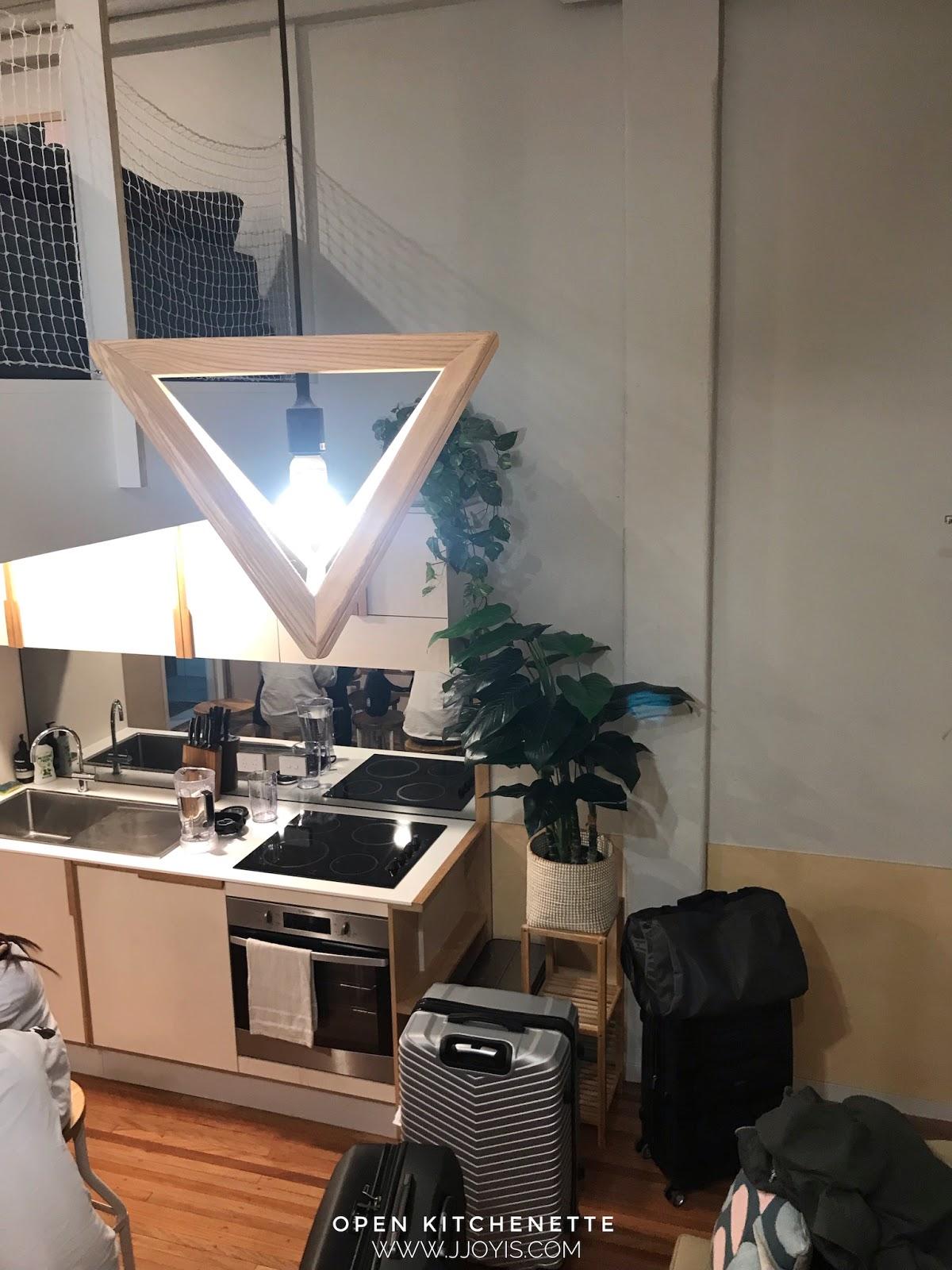 Airbnb for large groups (sleep 7) in Brisbane CBD open kitchen