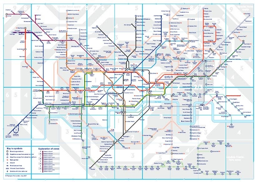 Mapa do metrô de Londres