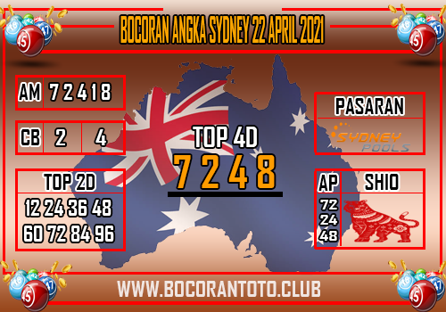 Bocoran Sydney 22 April 2021
