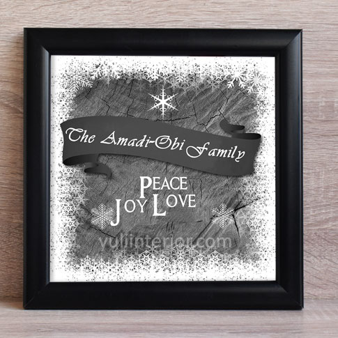 Personalized Monochrome Family Wall Frame in Port harcourt, Nigeria