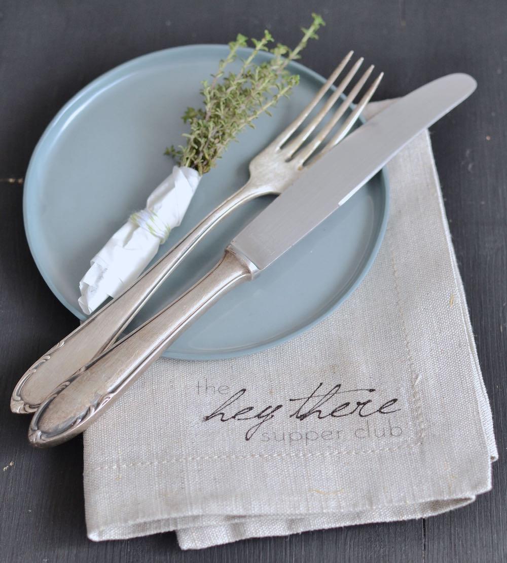DIY Stoffserviette Bügelfolie