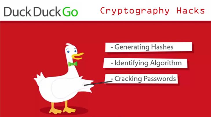 Cryptography Hacks - Hash Encryption using DuckDuckGo Search Engine