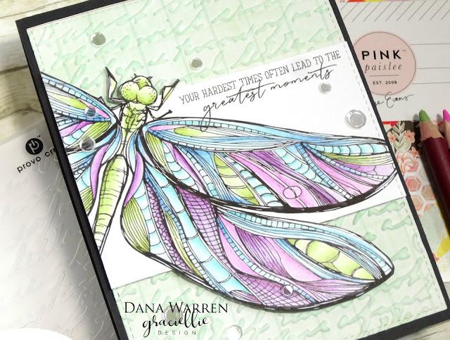 Dana Warren - Kraft Paper Stamps - Graciellie Designs - Spectrum Noir Colored Pencils