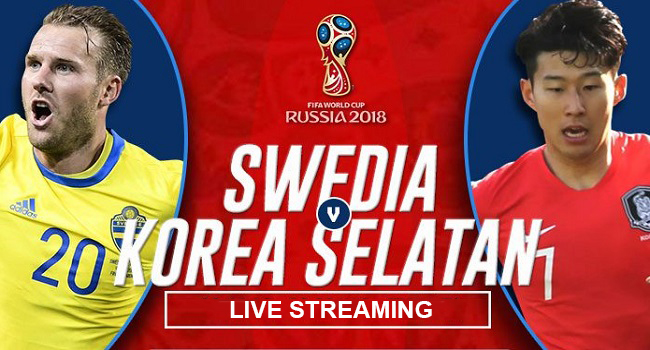 live streaming swedia vs korea selatan 18 juni 2018