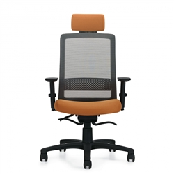 global spritz high back chair with weight sensing mechanism