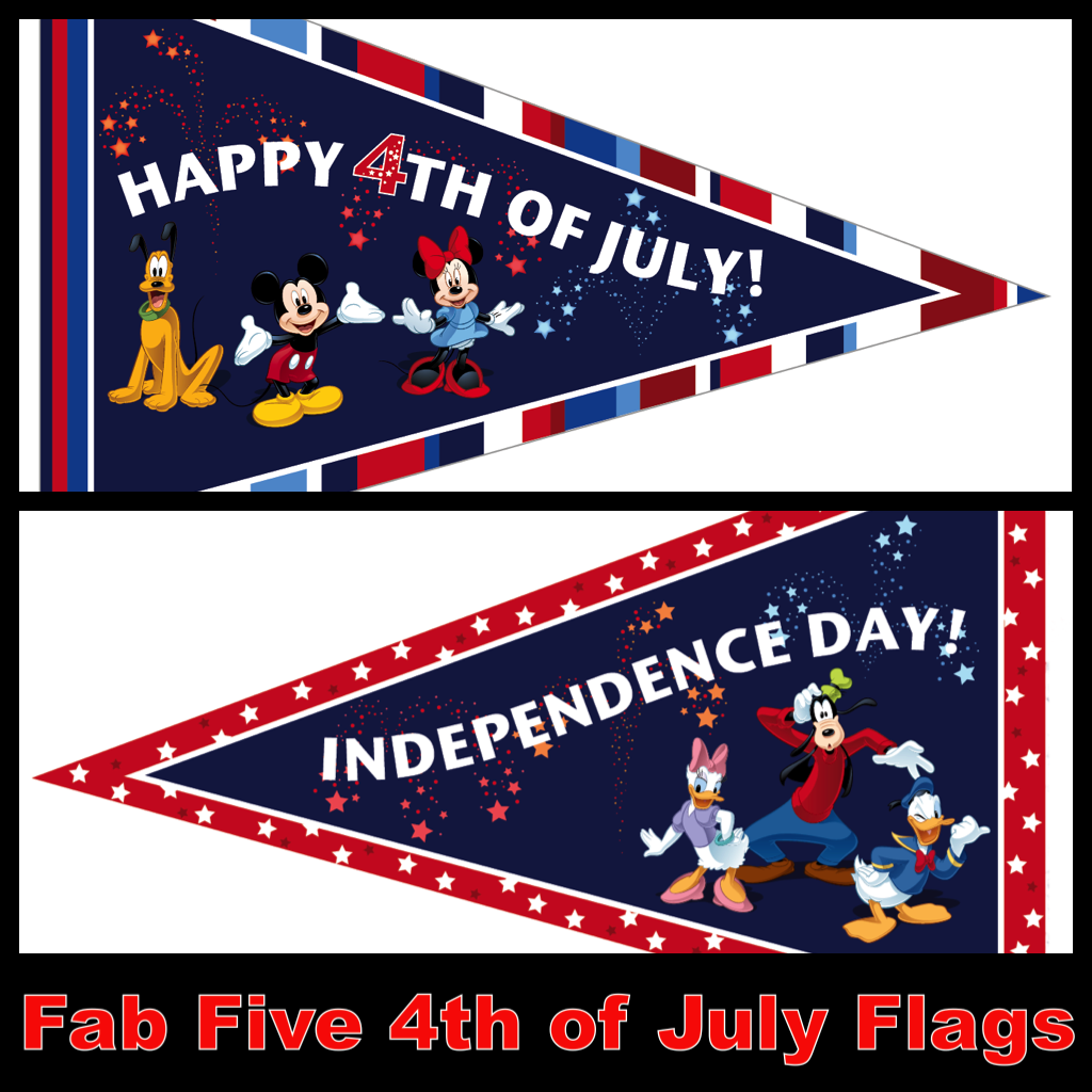 My Disney Life Fab Five 4th Of July Flag Printables Part 2