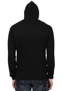 hooded t shirt mens