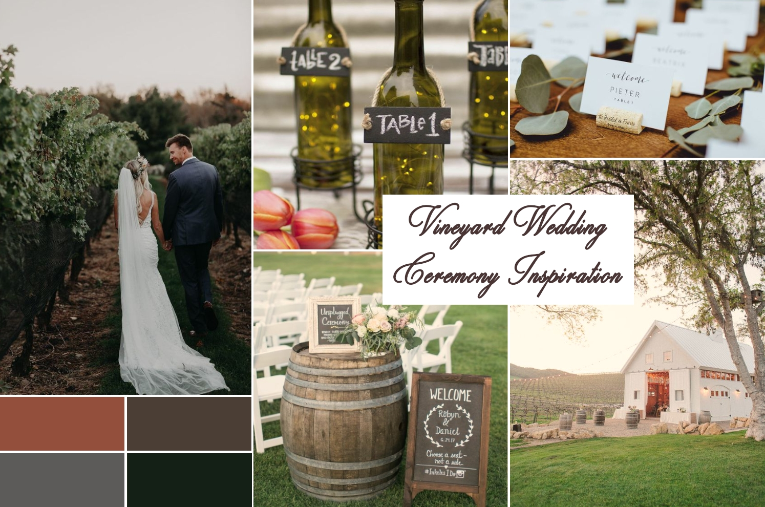 winery wedding theme ideas