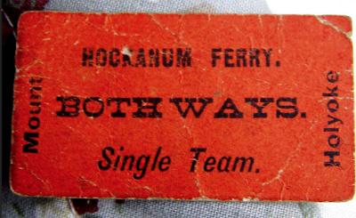 hockanum ferry tickey 1800s mount holyoke