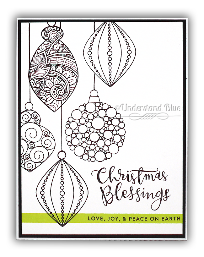 Simon Says Stamp Stamptember Christmas Card by Understand Blue