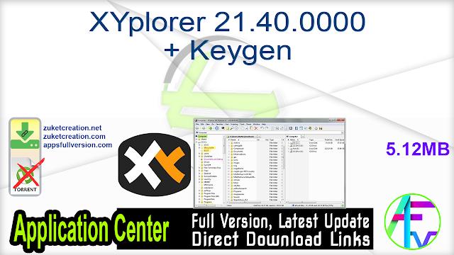 XYplorer 21.40.0000 + Keygen